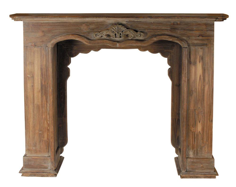 Encadrement de cheminée décoratif en bois