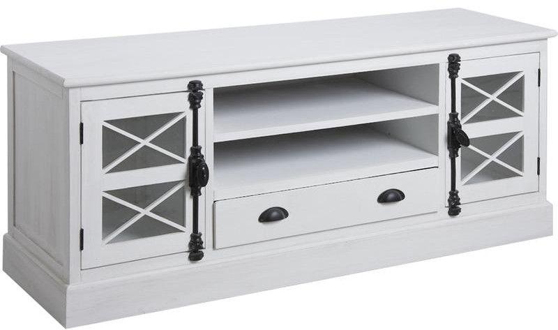 meuble tv en pin blanc saga eur 499 00 picclick fr. Black Bedroom Furniture Sets. Home Design Ideas