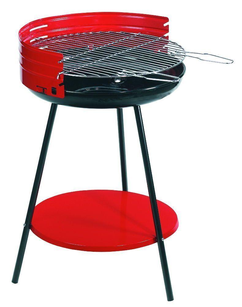 Barbecue à charbon avec tablette en acier 50x79cm