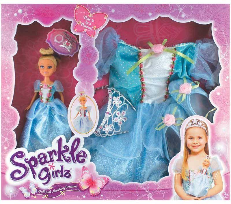 Panoplie et poupée princesse Sparkle Girlz