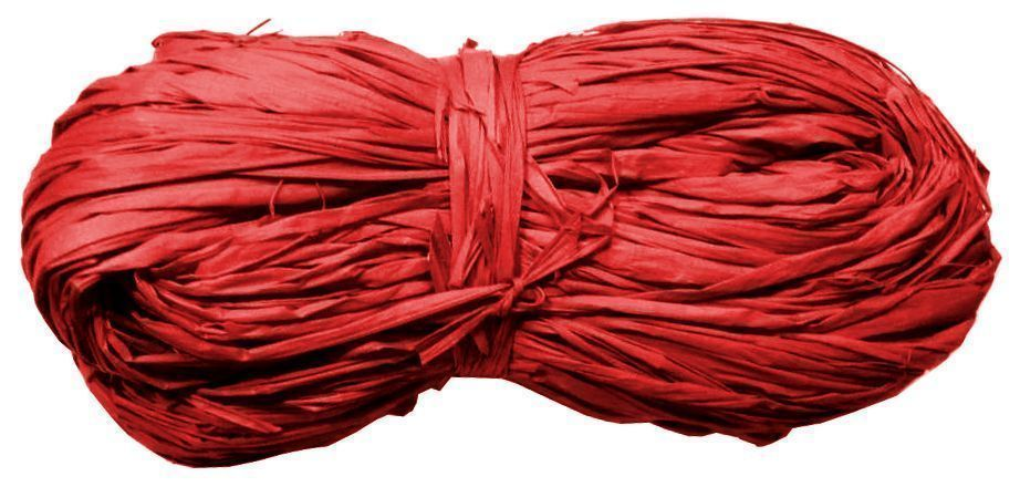 Pelote de raphia 50 grammes Rouge