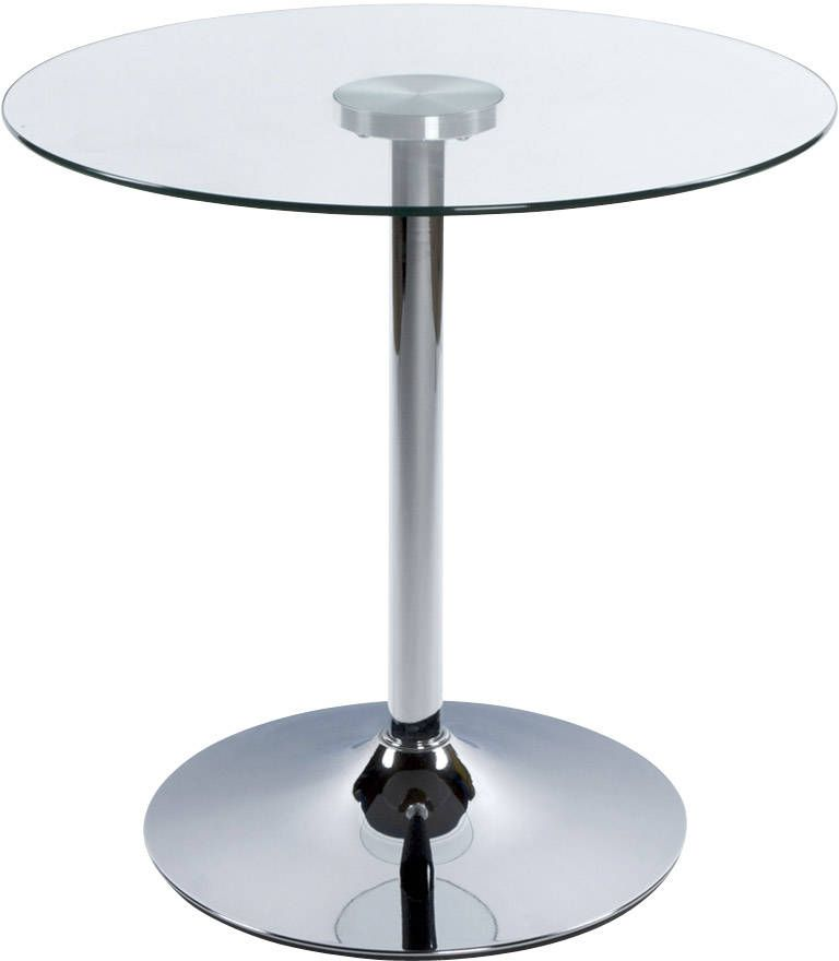 Table ronde bois blanc - Table de salon ronde en verre ...