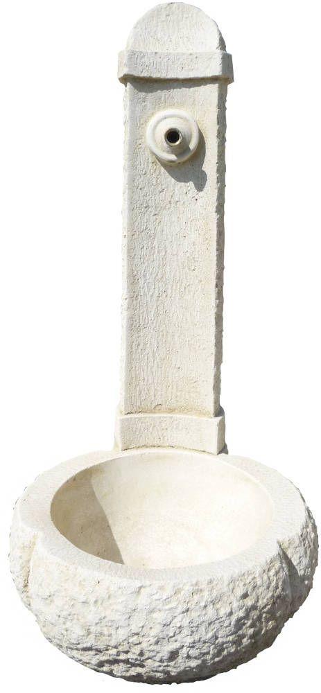 Fontaine en Pierre Blanche reconstitu�e 95x45x45cm