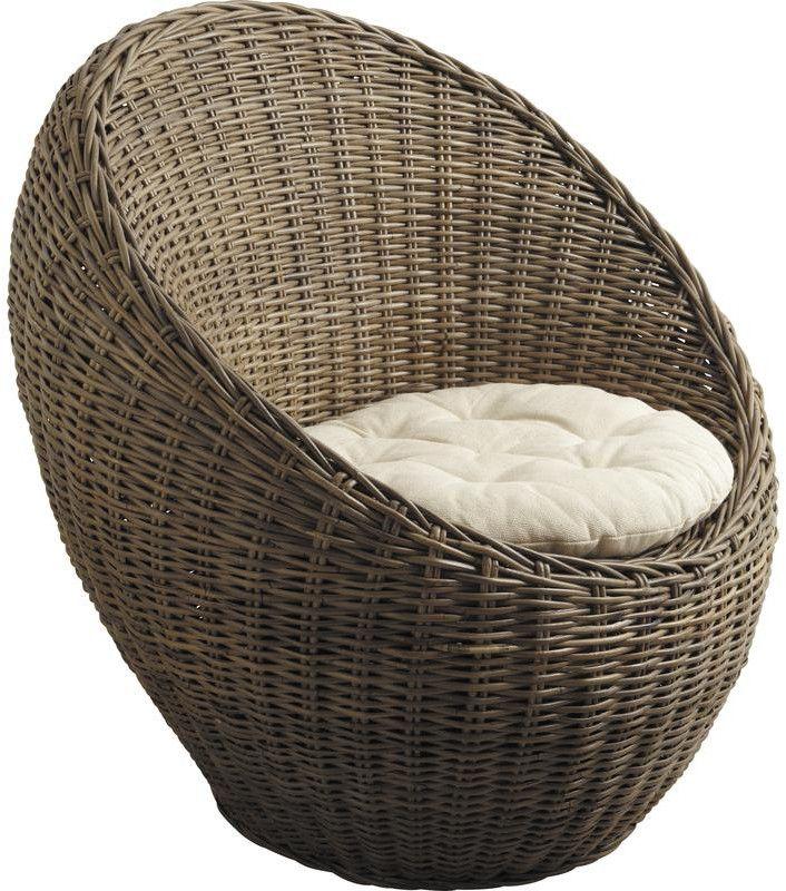 Fauteuil dimensions confort optimal - Fauteuil boule rotin ...