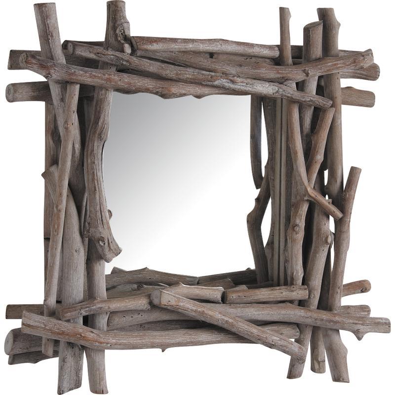 130 miroir en bois flotte le bois flotte le blog de for Le miroir dijon