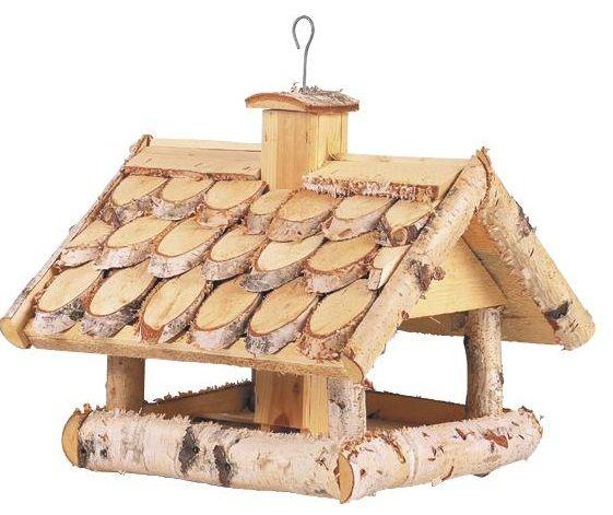 Mangeoire oiseaux en bouleau ~ Fabriquer Mangeoire Oiseau Bois