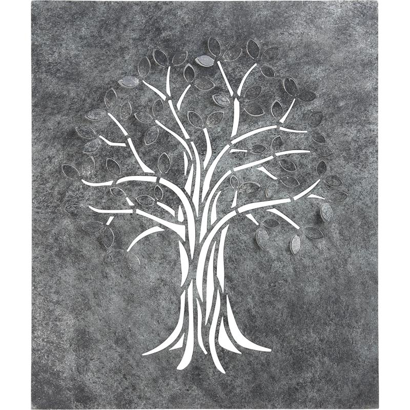 Dimensions tableau for Arbre mural en fer forge