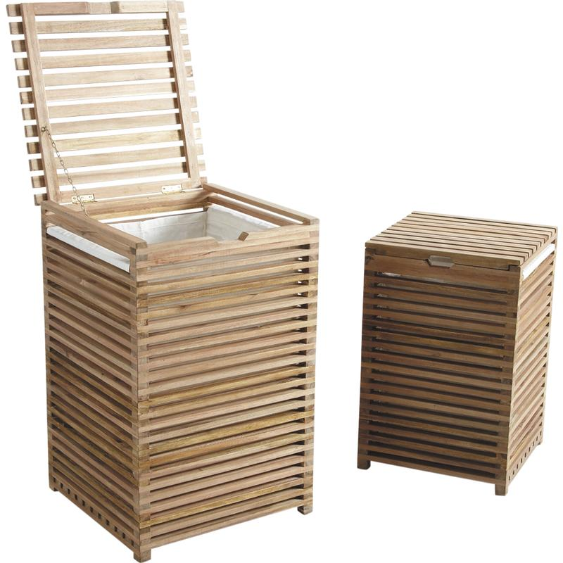 panier a linge en bois. Black Bedroom Furniture Sets. Home Design Ideas