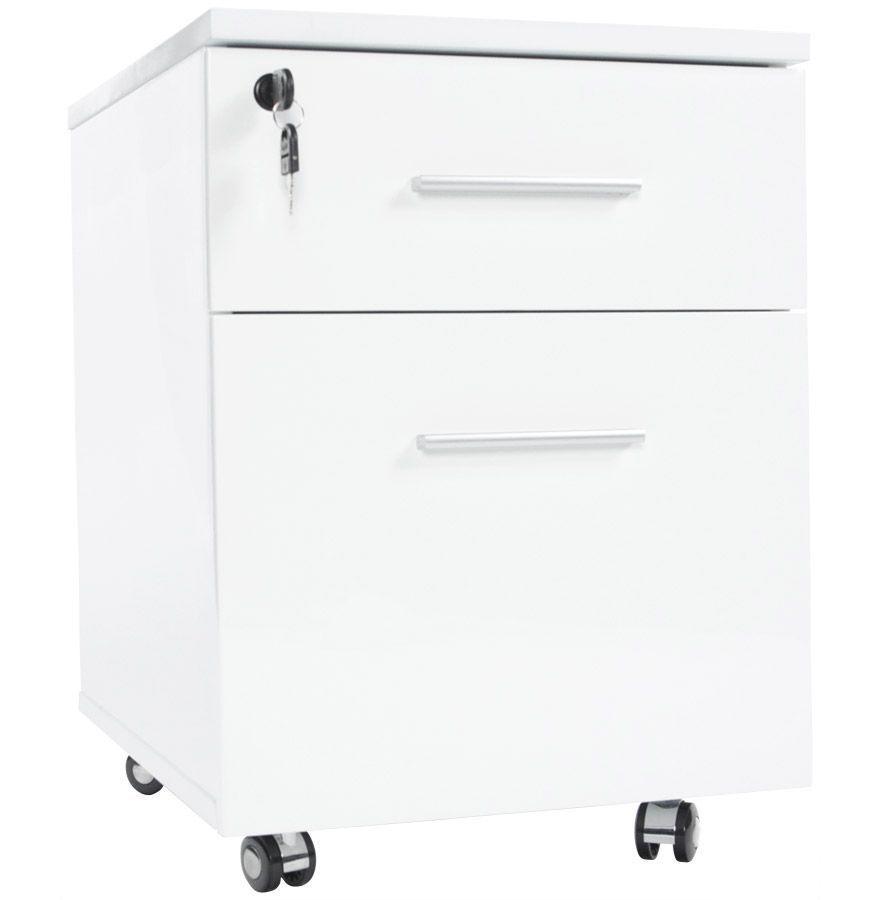 Bureau angle blanc laque - Caisson bureau blanc laque ...