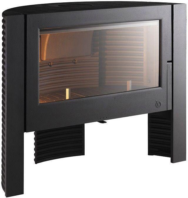 Po�le chemin�e � bois Finition anthracite 12kW Itaya 105,1x84,6x43,1cm