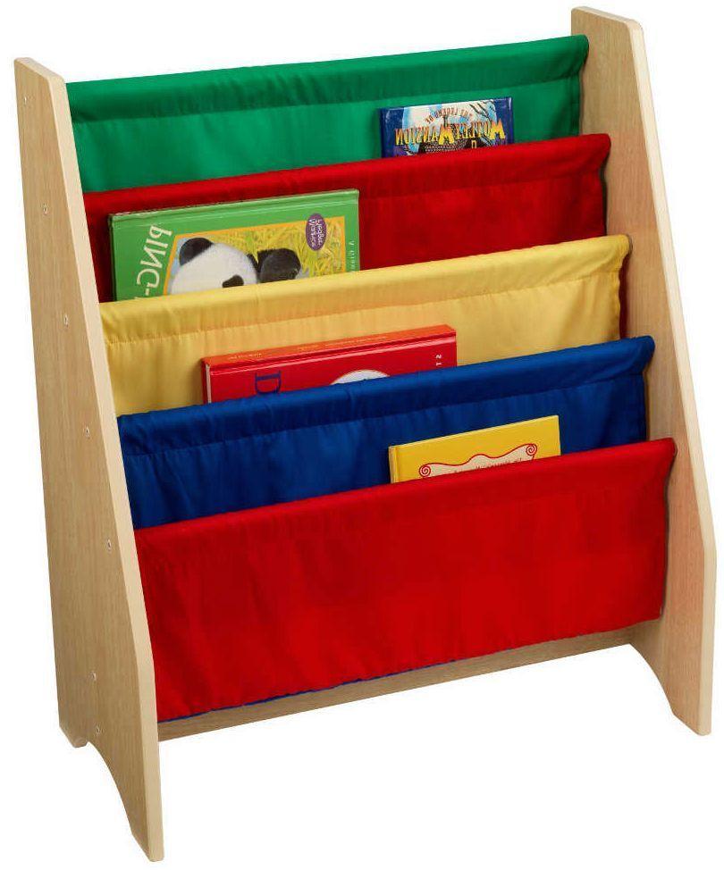Biblioth�que avec rangements en bois et coton Multicolore