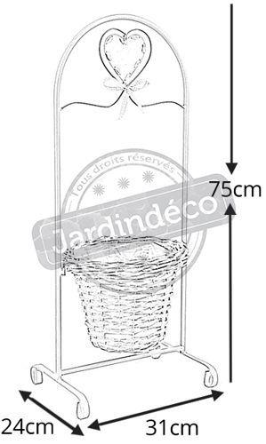 Support-en-metal-cache-pot-en-eclisse miniature 2