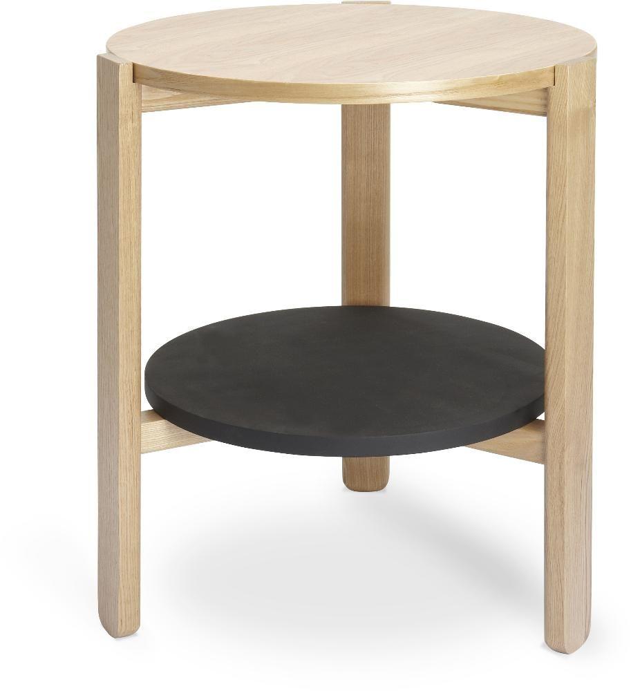 Table ronde en bois Hub Noir/Naturel