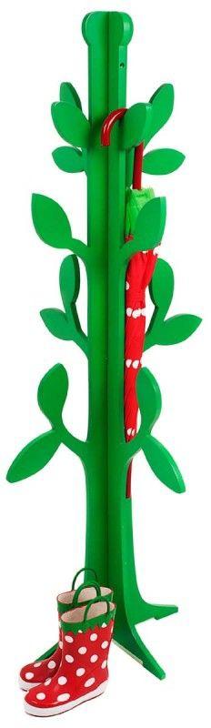 Porte manteaux arbre vert