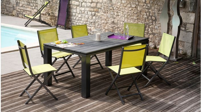 Chaise jardin - Salon de jardin table et chaise ...