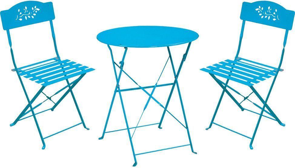 Poids table - Chaise de jardin bleu marine ...