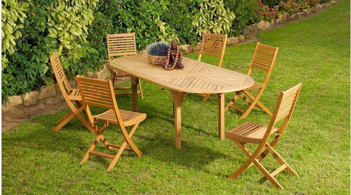 Salon oval Tha�la 1 table + 6 chaises