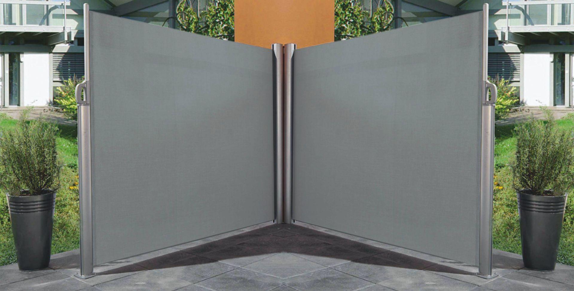 Paravent r tractable double 6 m tres ebay - Paravent pour terrasse jardin ...