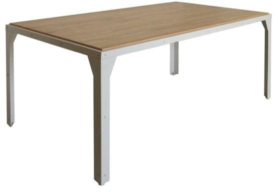 Table repas 180cm en m�tal et bois