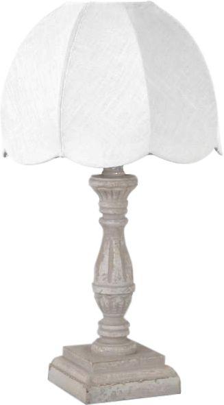 Lampe de chevet rétro Lin Blanc