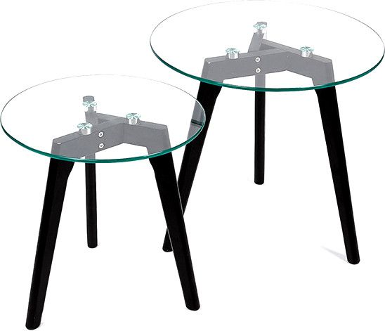 Set de 2 tables gigognes Scandi