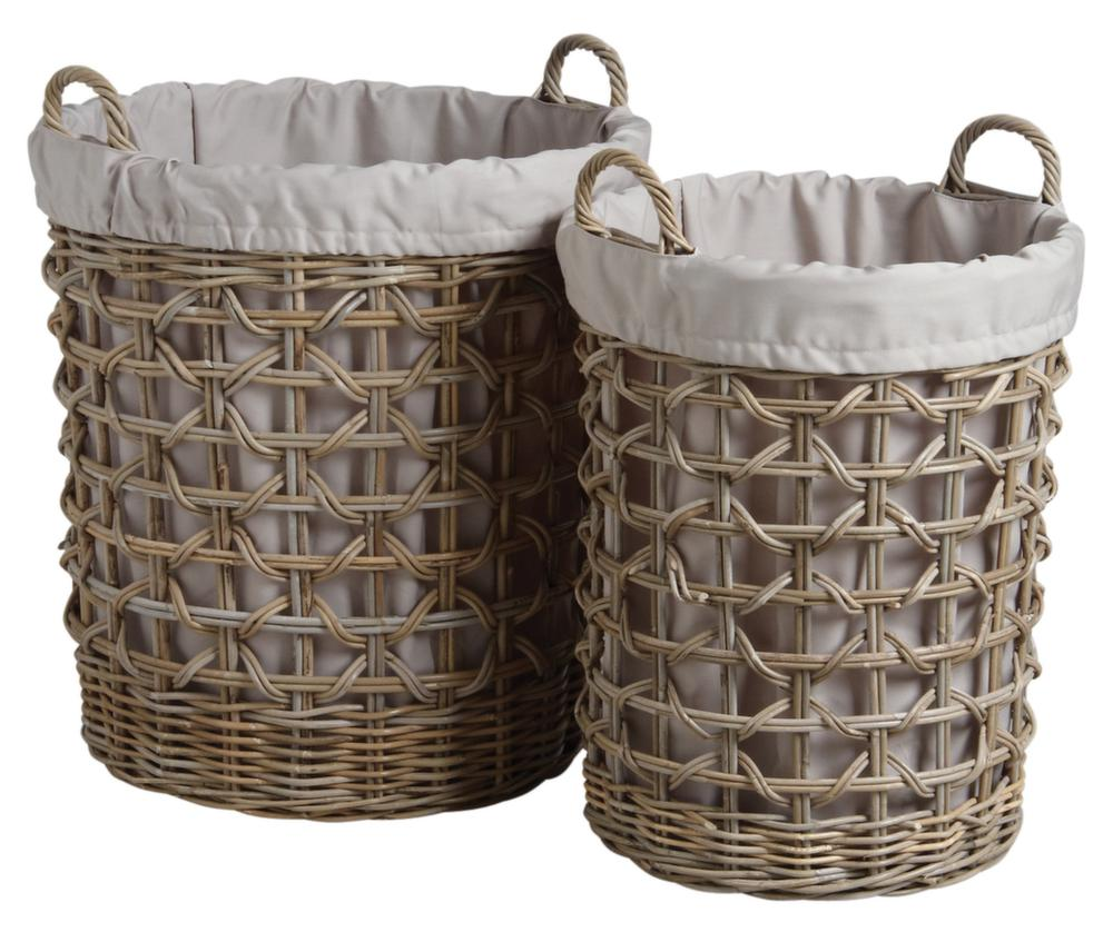panier linge en poelet gris lot de 2 eur 239 00 picclick fr. Black Bedroom Furniture Sets. Home Design Ideas