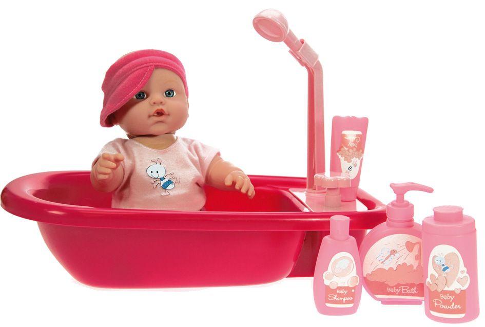 Poup�e b�b� 30cm Heure du bain