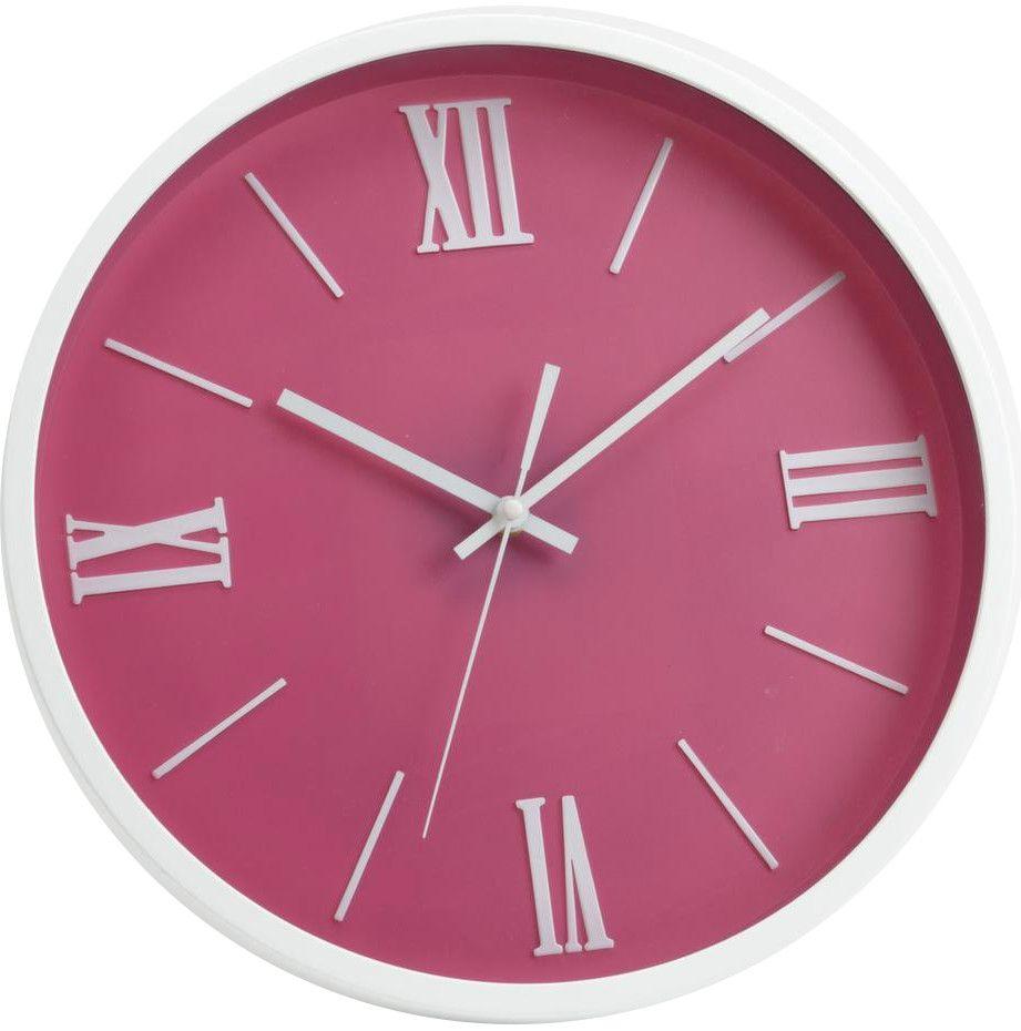 horloge moderne rose 36cm eur 19 90 picclick fr. Black Bedroom Furniture Sets. Home Design Ideas