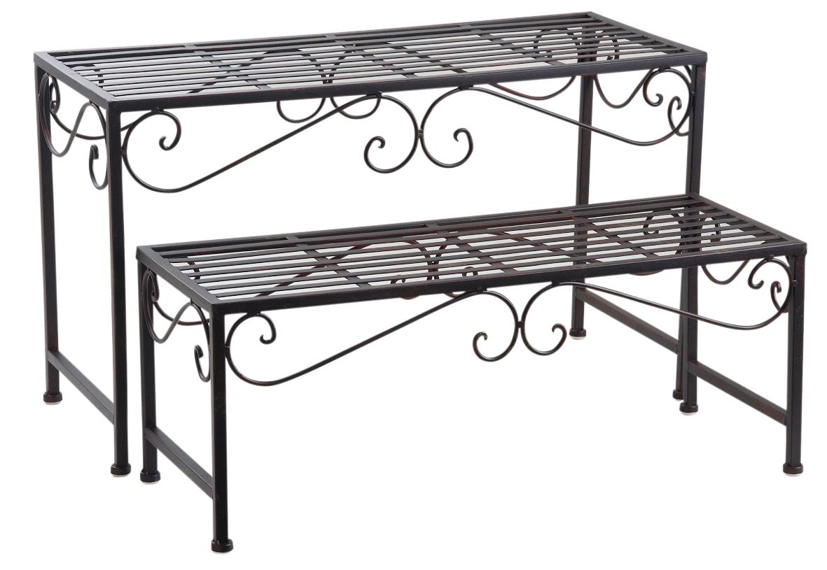 etagere metallique pour plantes. Black Bedroom Furniture Sets. Home Design Ideas