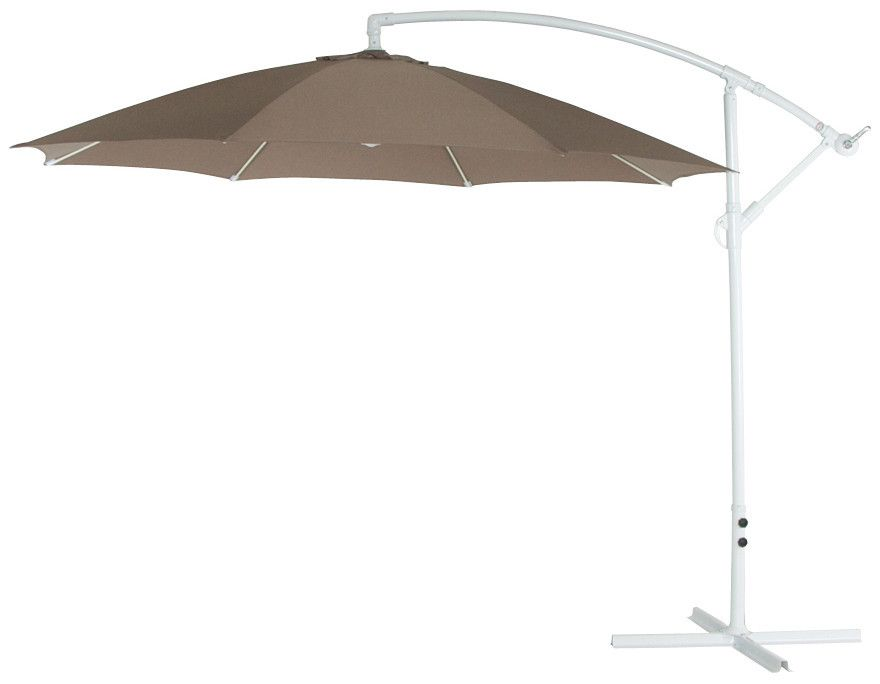 parasol d port inclinable en aluminium taupe eur 139 00 picclick fr. Black Bedroom Furniture Sets. Home Design Ideas
