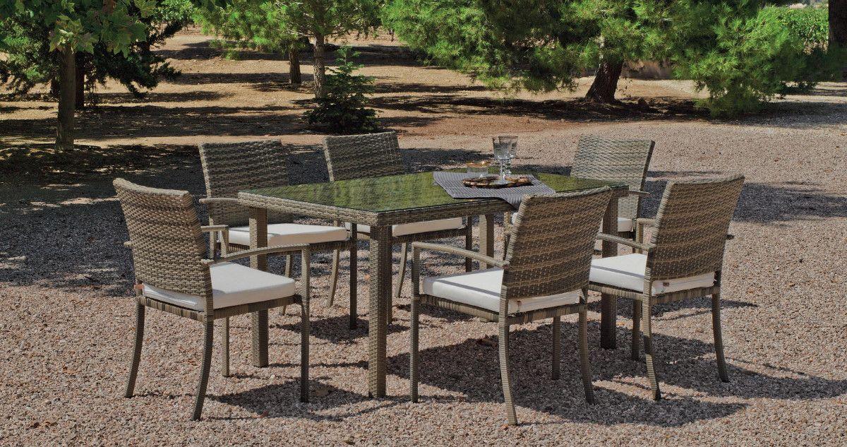Table à manger et fauteuils jardin Abasari
