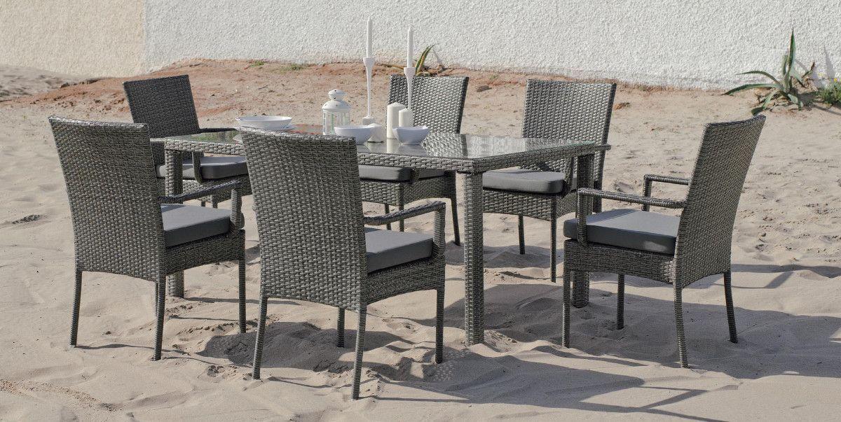 Jardin table chaises r sine repas ext rieur - Chaise de jardin resine ...
