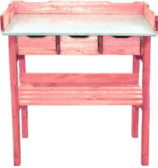 Table à rempoter mélèze huilé FSC 100%
