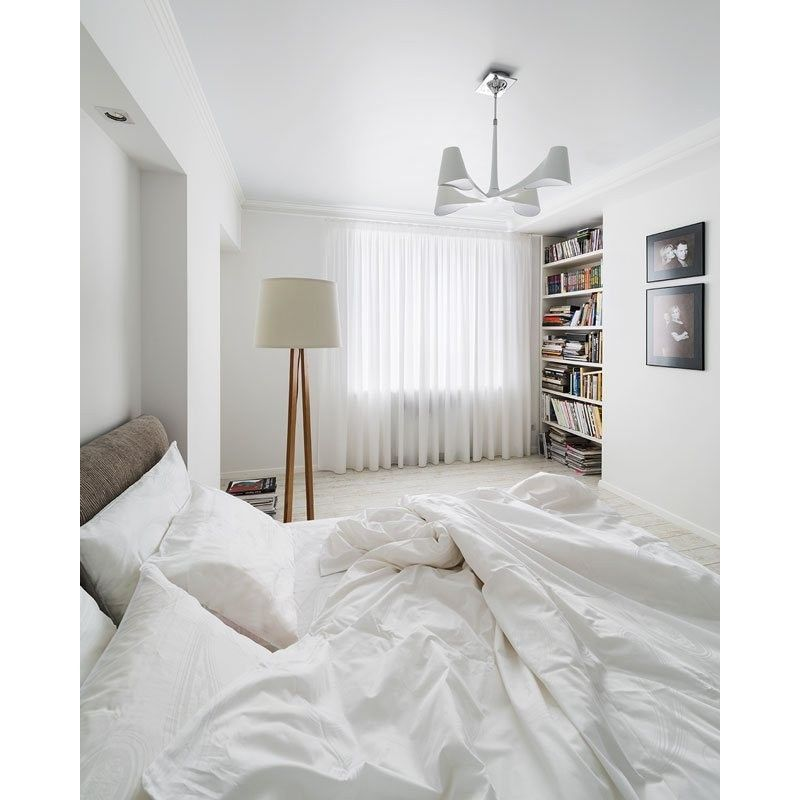 lampe pied triangulaire scandinave abat jour blanc ebay. Black Bedroom Furniture Sets. Home Design Ideas