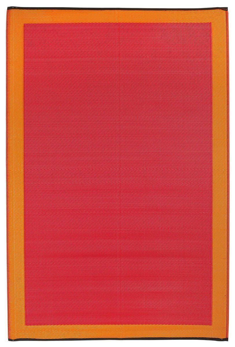 Tapis int�rieur ext�rieur Skien orange et rouge