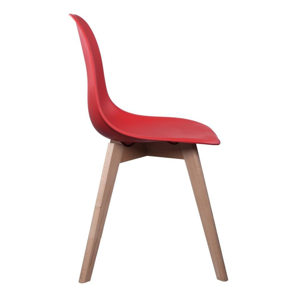 Chaise coloris rouge for Chaise factory rouge