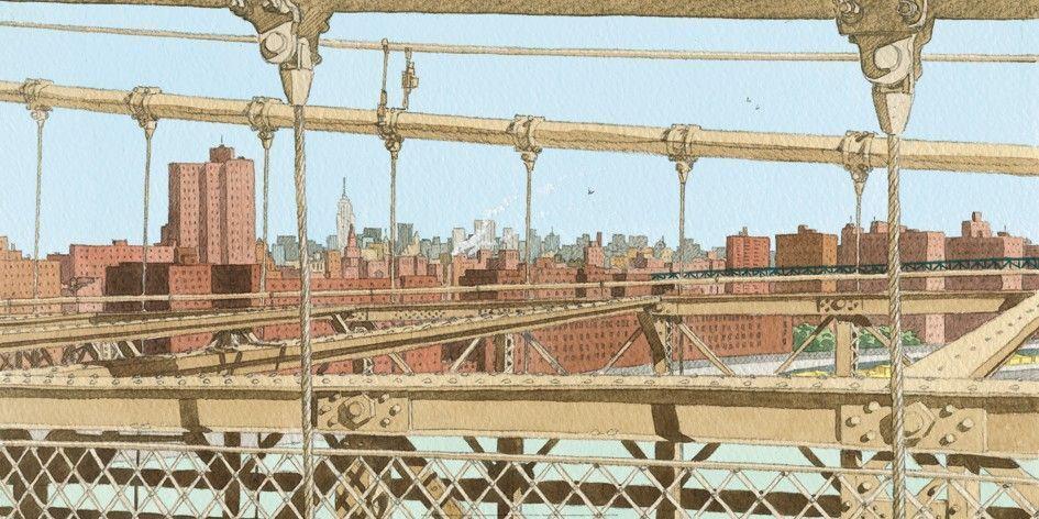 Affiche-Brooklyn-bridge