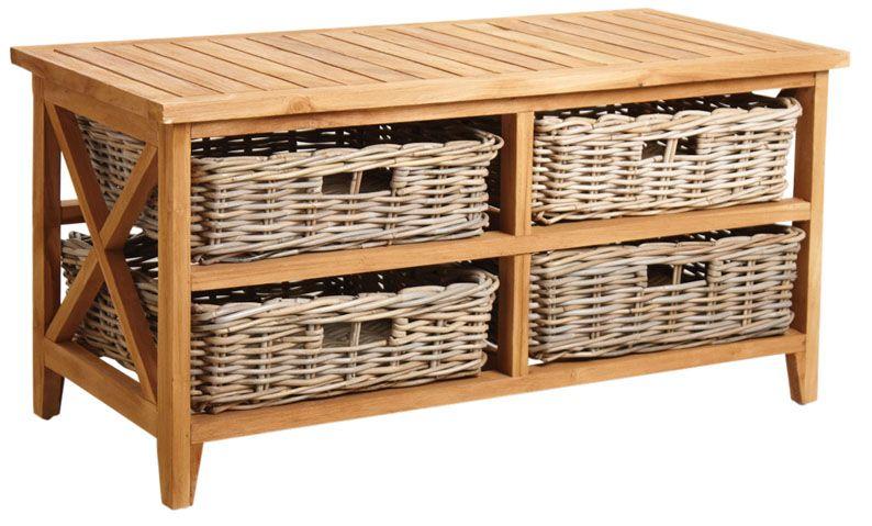 Table basse en teck avec 4 tiroirs eur 329 00 picclick fr - Table basse teck avec tiroir ...