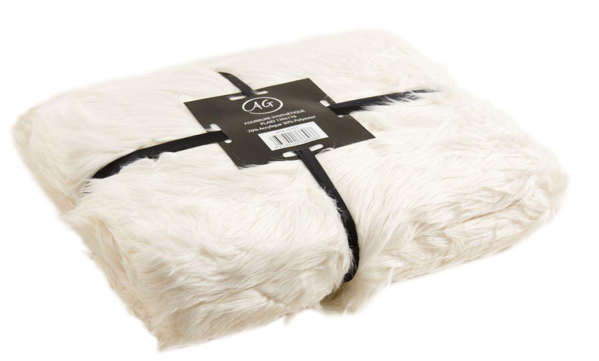 plaid en fausse fourrure gris ebay. Black Bedroom Furniture Sets. Home Design Ideas