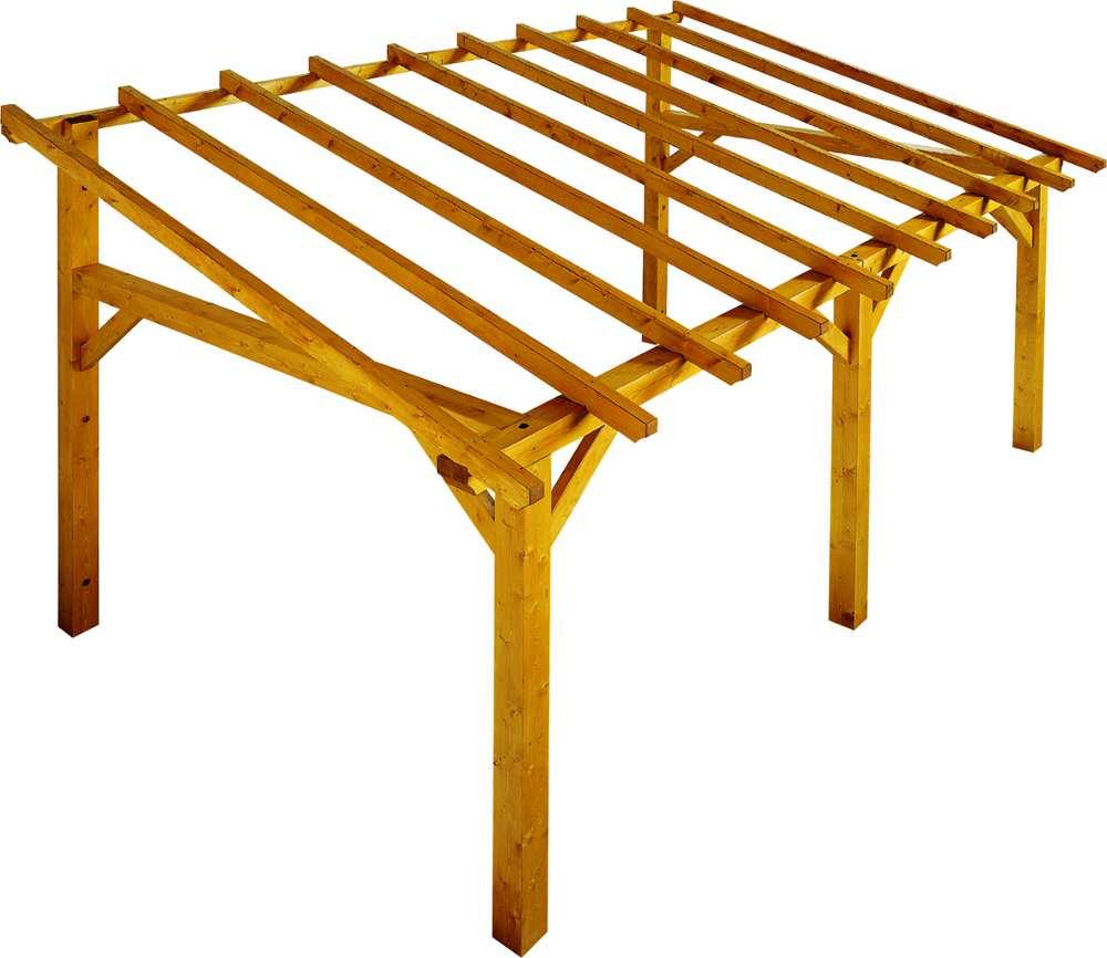 Carport large pour entr�e � adosser 500x300x322cm