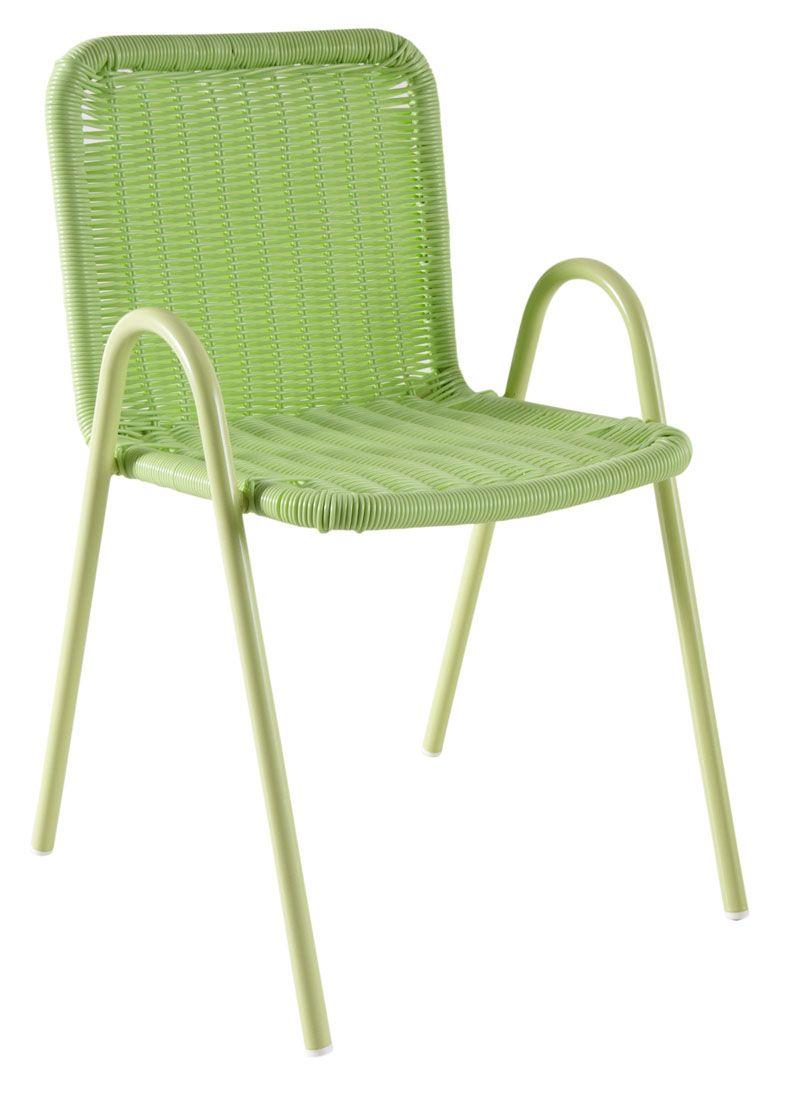 Chaise-enfant-en-polyresine-verte