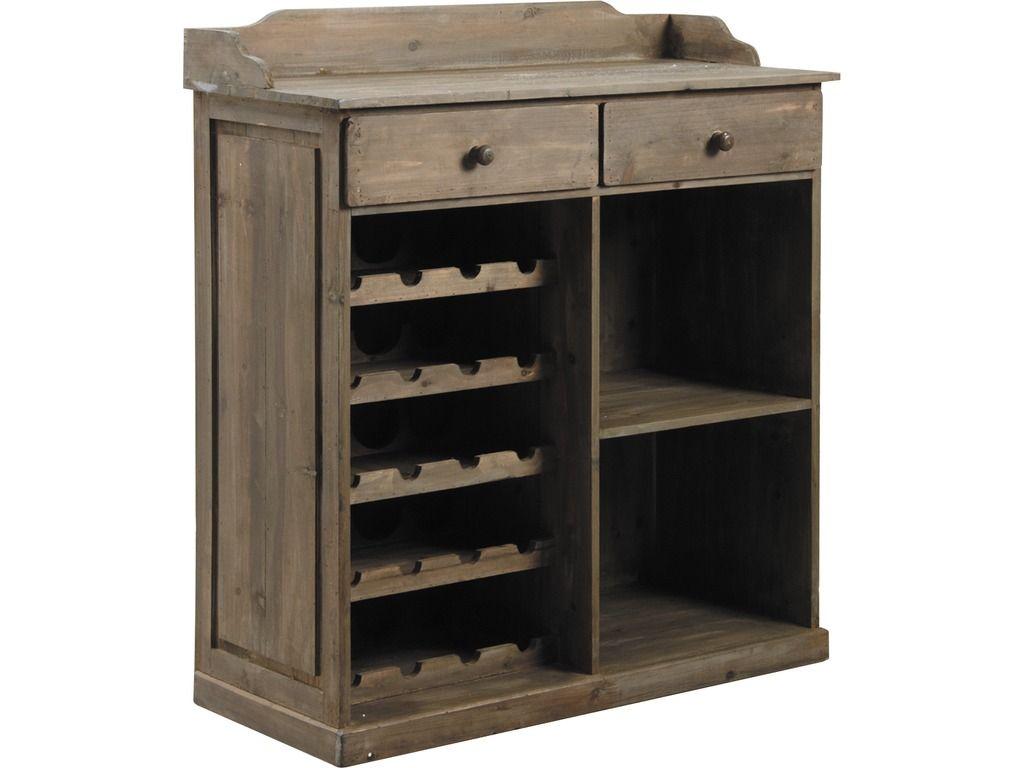Commode comptoir en bois vieilli