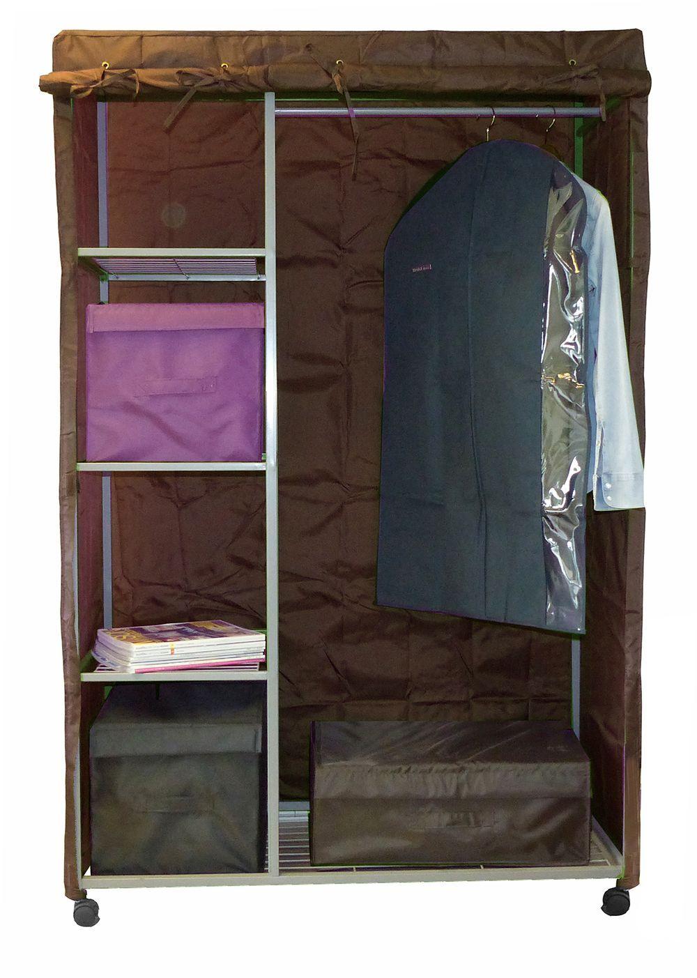 penderie en m tal avec housse will b ebay. Black Bedroom Furniture Sets. Home Design Ideas