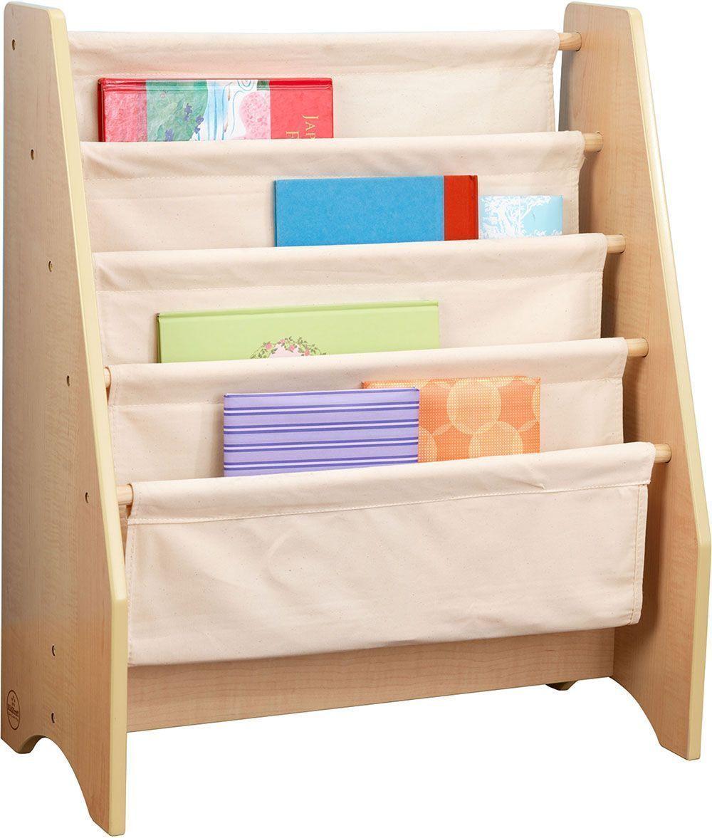 Bibliothèque avec rangements en bois et coton