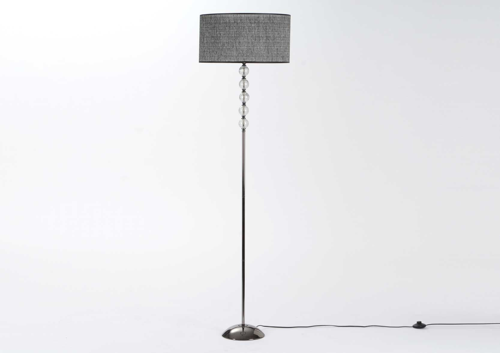 Lampe design noir Louis Verre et metal pu(r) Amadeus