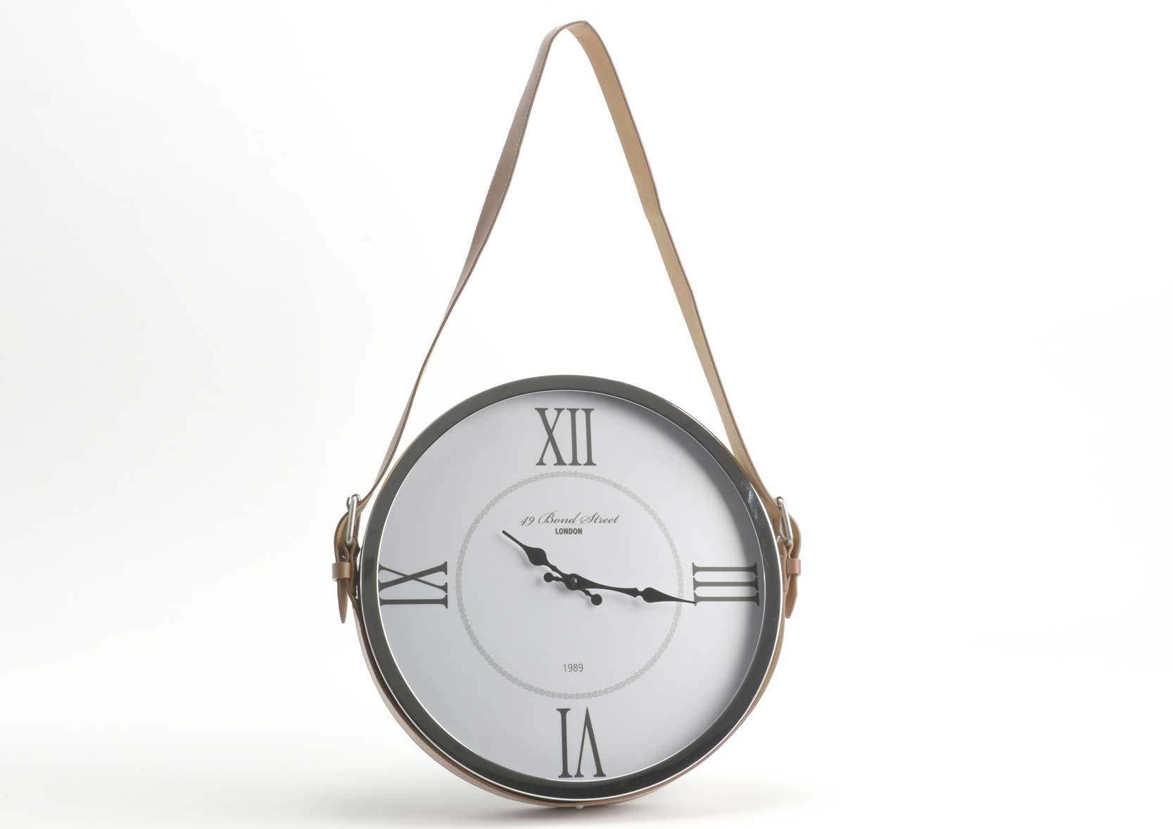 Horloge ronde avec suspension cuire Metal / plastique / cuir(rp) Amadeus
