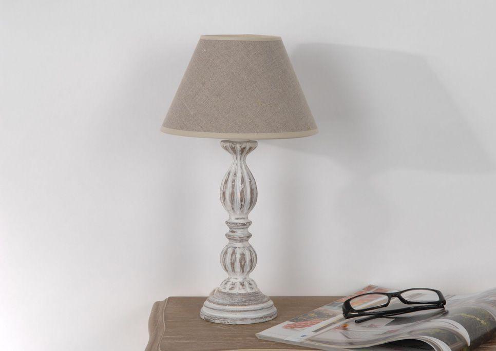 lampe classique agn s en bois eur 37 90 picclick fr. Black Bedroom Furniture Sets. Home Design Ideas