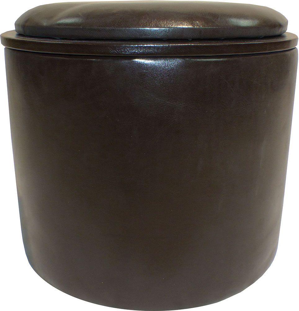 Marron mat riau principal mat riaux dimensions - Pouf simili cuir marron ...