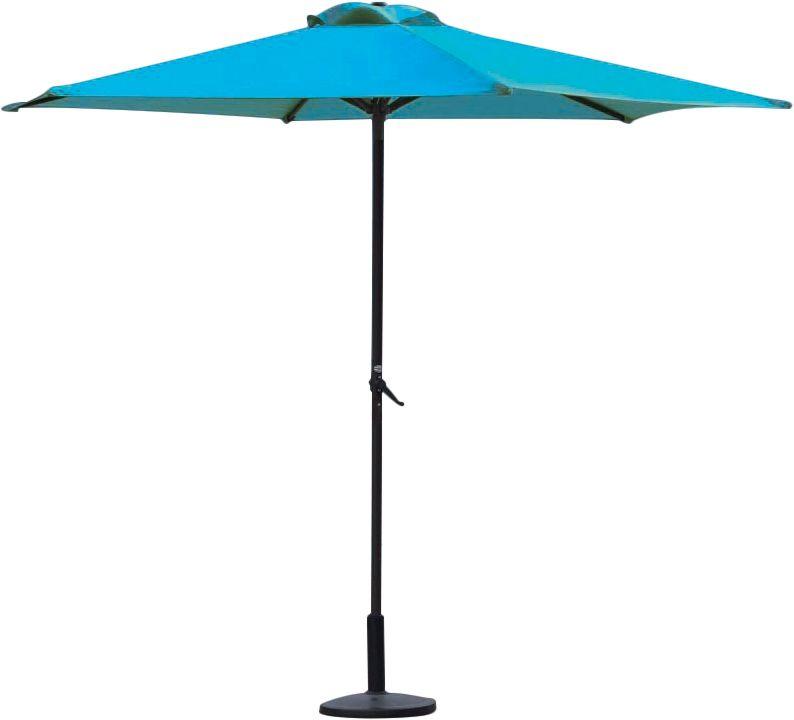 Parasol droit en aluminium 3 m Bleu turquoise