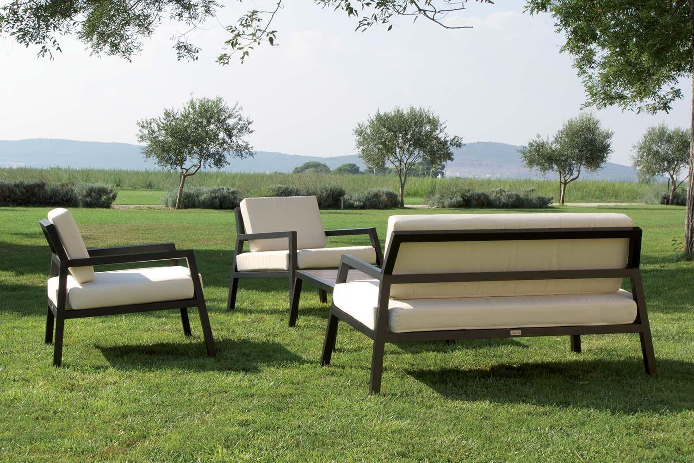 Ext rieur jardin canap fauteuils - Canape de jardin aluminium ...